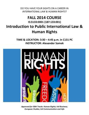 IS 3133 Intl Law HR Fa14